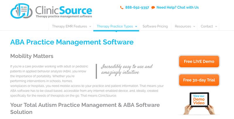 Applied Behavior Analysis (ABA) Electronic Data Collection Platform